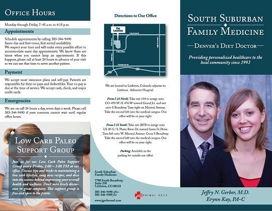 South Suburban Family Medicine Brochure - Jeffry Gerber, MD - Erynn Kay, PA-C